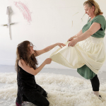 Micheal Browne and Pauline Cummins - performance during 14 days of live performance work by the Performance Collective